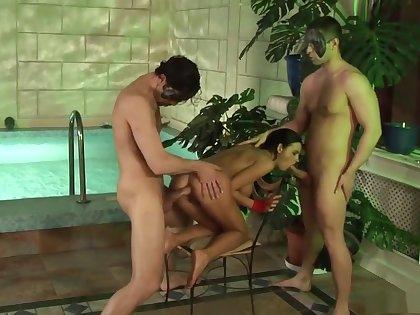 Best pornstar Candy Alexa in crazy threesome, big tits adult clip