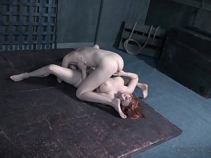 Exclusive lesbian XXX during a hot BDSM cam role of