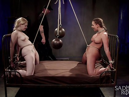 Submissive whores leave their skillful concerning dominate their asses
