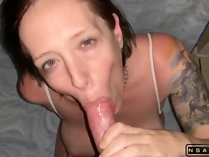 Having a blast heavens say no to big boobs afterx she blows me