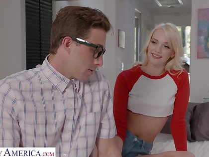 Shy nerd gets to be crazy a smoking hot girl Kenna James