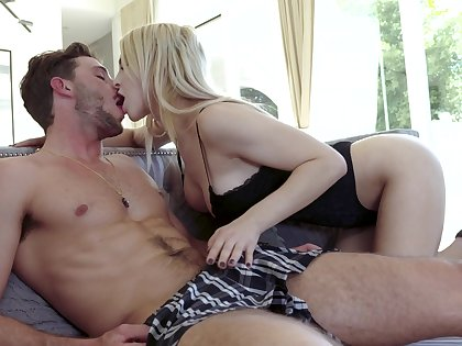 Lustful milf Alix Lynx is spying insusceptible to daughter's ex boyfriend and seduces him