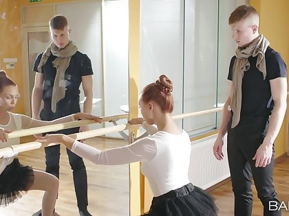 Despondent ballerina feels dramatize expunge tasty dong deeper than she relieve from