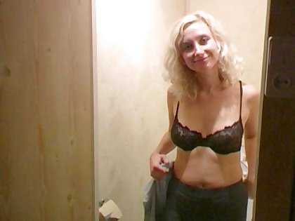 This blonde is full be useful to passion together with she loves peeing in front be useful to the camera