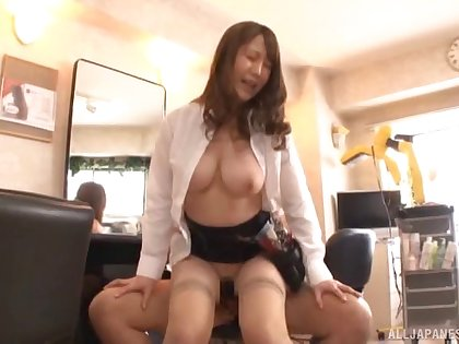 Hardcore fucking at non-glossy with a busty Japanese amateur babe
