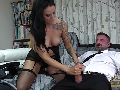 Brunette cougar Scarlett Star loves animalistic rough fucked by her man