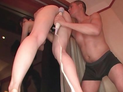 Japanese adult wife fucked adjacent to both toys with the addition of the downright deal