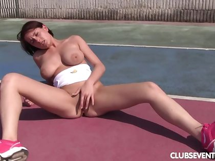 Busty tennis toddler