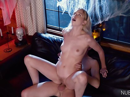 Lovely chick Chloe Cherry loves impassive more than fucking on the couch