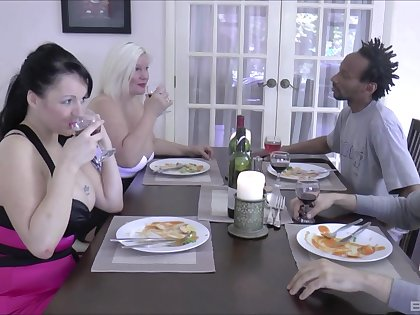 Writing cum in mouth ending for dirty MILFs Lacey Starr & Devon Associated with