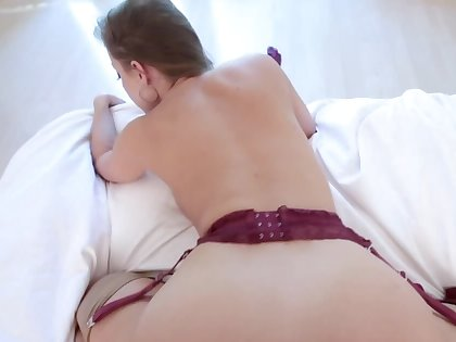 Aroused MILF in sexy stockings drilled off out of one's mind stepson in doggystyle